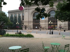 A view from a sip. Tricentennial park, in front of Mugshots.